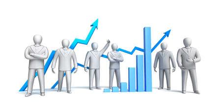 stockbroker: Stock market concept, isolated Stock Photo