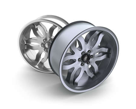 rims: Car rims concept  Isolated on white