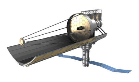 refracting: Space telescope ower white  My own design