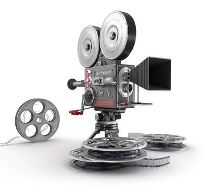 Vintage movie camera and film Stock Photo - 24090207