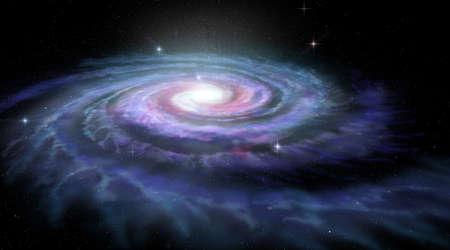 渦巻銀河天の川 写真素材