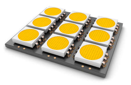 soldering: LED panel, close-up