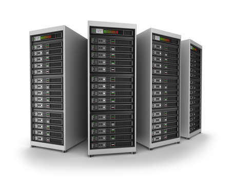 data processor: Network servers in data center