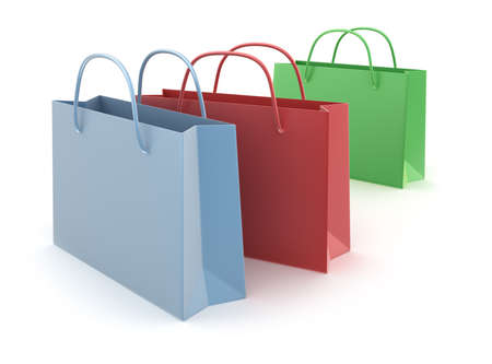 gift bags: Colorful shopping bags isolated on white background