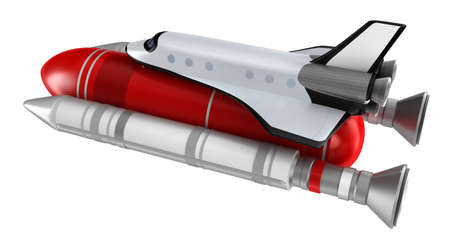 booster: Space shuttle model isolated