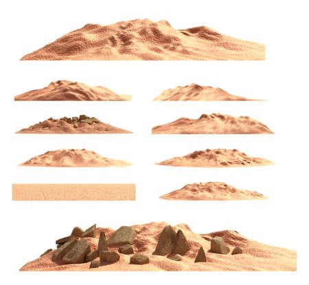 wilds: Desert mountain set , isolated Stock Photo