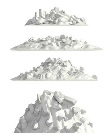 ice mountain: Ice mountain set , isolated
