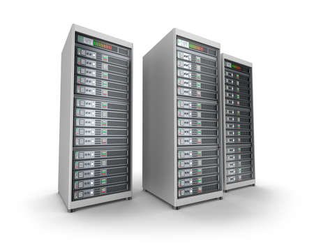 Network servers in data center photo