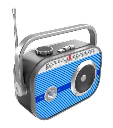 am radio: Retro radio over white