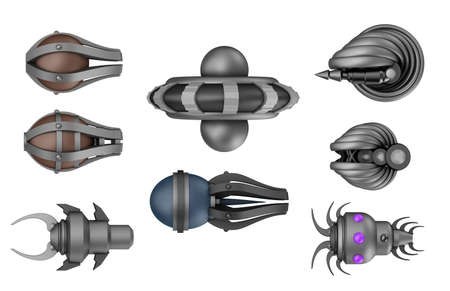 space invaders ,isolated on white photo