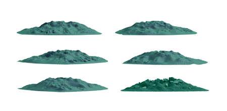 mountaintop: Tropical mountain set , isolated Stock Photo