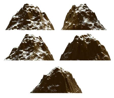 mountaintop: Mountain set , isolated