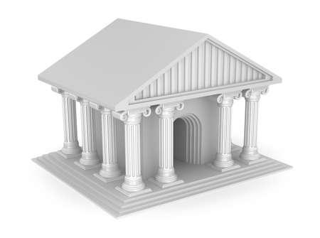 templo griego: Clásico antiguo templo griego