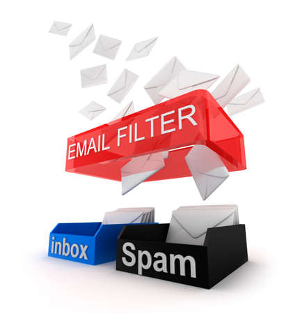 virus: Concept of email filter in work.