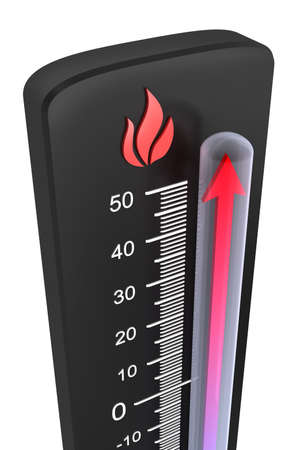 Thermometer : rise of temperature photo