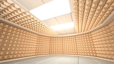 dampen: Soundproof room