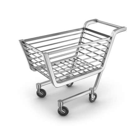 Shopping Cart set on white background. photo