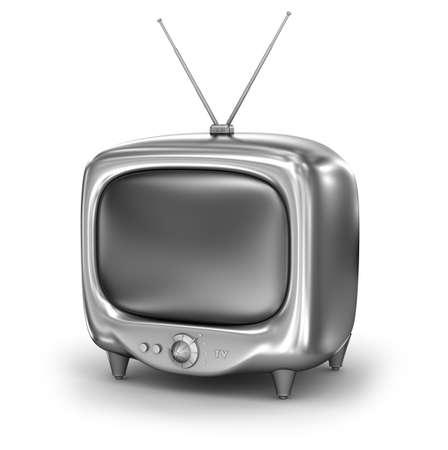 tvset: Retro TV Set. Isolated on white background. My own design. Stock Photo