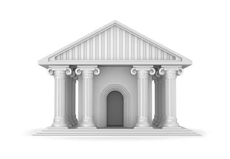 greek temple: Classic antique greek temple Stock Photo