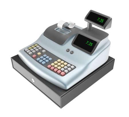 caja registradora: Caja registradora aislados en blanco