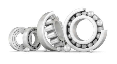 friction: Ceramic bearings group over white