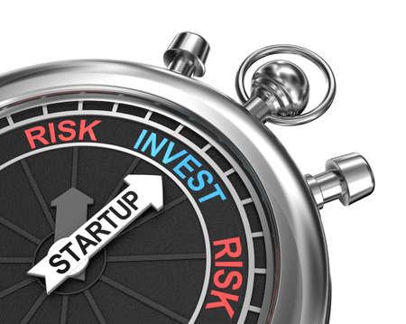 Startup risk invest concept