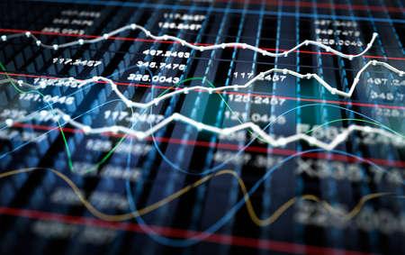 Börse graph Hintergrund Standard-Bild - 40012544