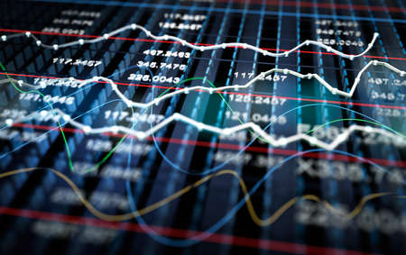 trade: Stock exchange graph background