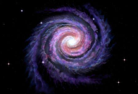 galaxie: Spiralgalaxie Illustration der Milchstraße Lizenzfreie Bilder