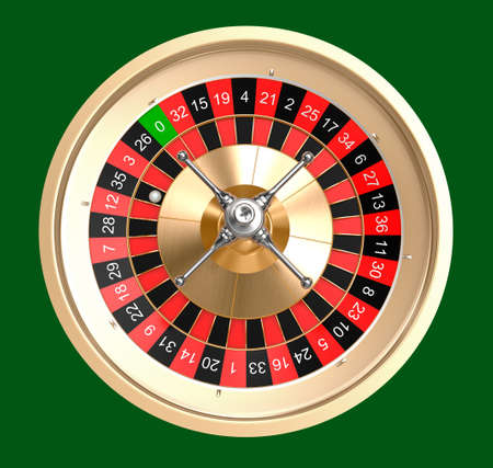 dependency: Casino roulette top view isolated