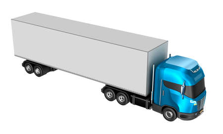 Truck isolated over white. My own design. photo