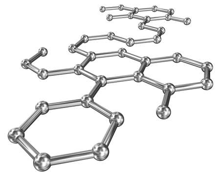 covalent: Molecular structure over white Stock Photo