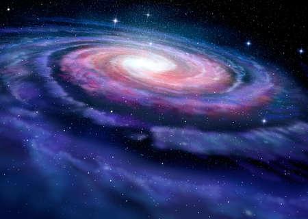 espiral: Ilustración Galaxia espiral de la Vía Láctea Foto de archivo