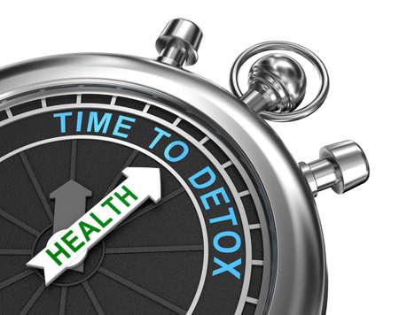 medicina: Tiempo de desintoxicaci�n concepto Foto de archivo