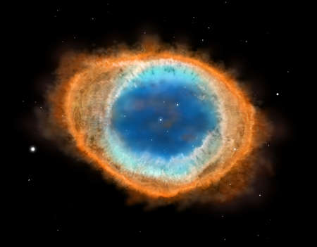 nebulae: Galaxy: Ring Nebula M57 illustration