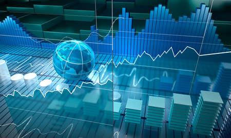 証券取引所のボードの抽象的な背景
