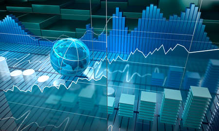 Stock exchange board abstract background