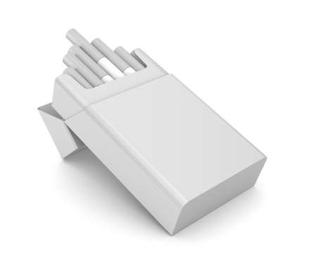 packet: Cigarettes pack 3D illustration isolated over white