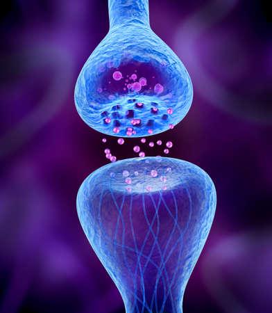 celulas humanas: Receptor activo aislado en azul Foto de archivo