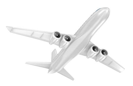 airbus: Airplane isolated on blue. My Own Design Stock Photo