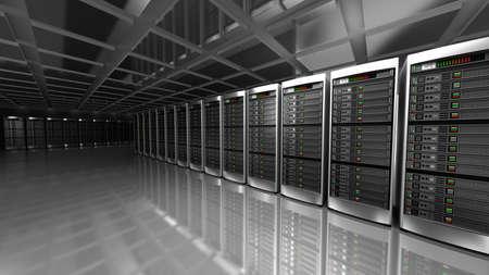 データ センターのサーバー ルームの間の近代 写真素材