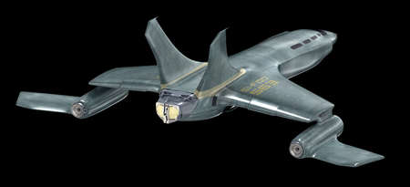 fighters: Future spaceship. 3D image Stock Photo
