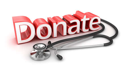 donacion de organos: Donar texto, la medicina 3d Concepto