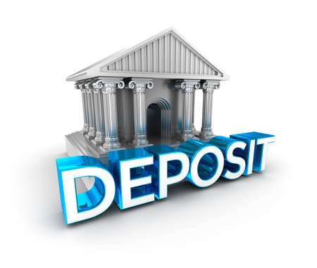 stockpiling: Deposit text, concept 3d icon Stock Photo