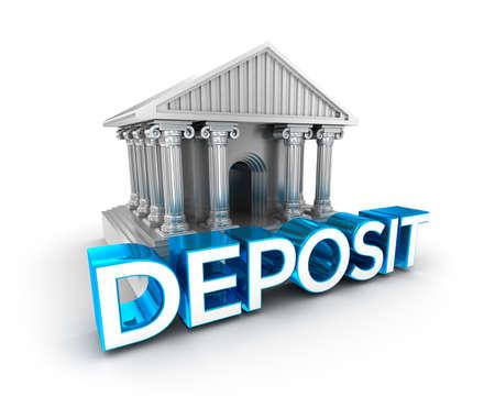 deposit: Deposit text, concept 3d icon Stock Photo