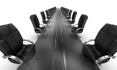 commercial: Business workplace, boardroom white interior