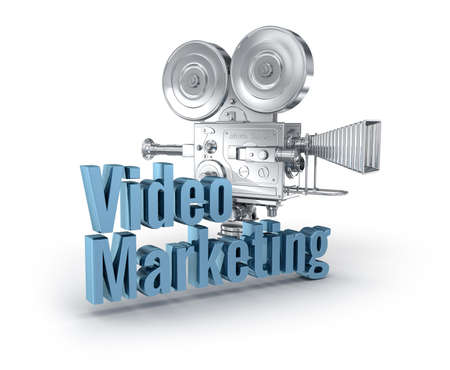 Video Marketing 3d word concept over white Stock Photo