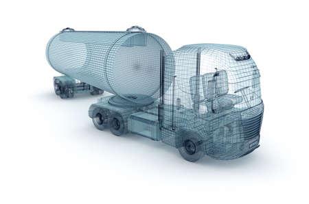 ciężarówka: Ciężarówka oliwy z ładunku kontenera, drut modelu Zdjęcie Seryjne