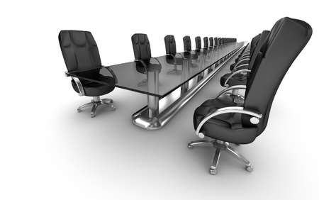sparce: Business workplace, boardroom white interior