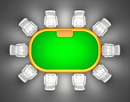 segurar: mesa de poker com cadeiras de vista superior isolado no preto